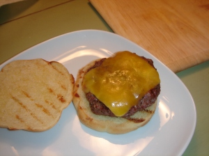 Burger with cheese.